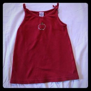 Gymboree 6M Apple Rhinestone Dress